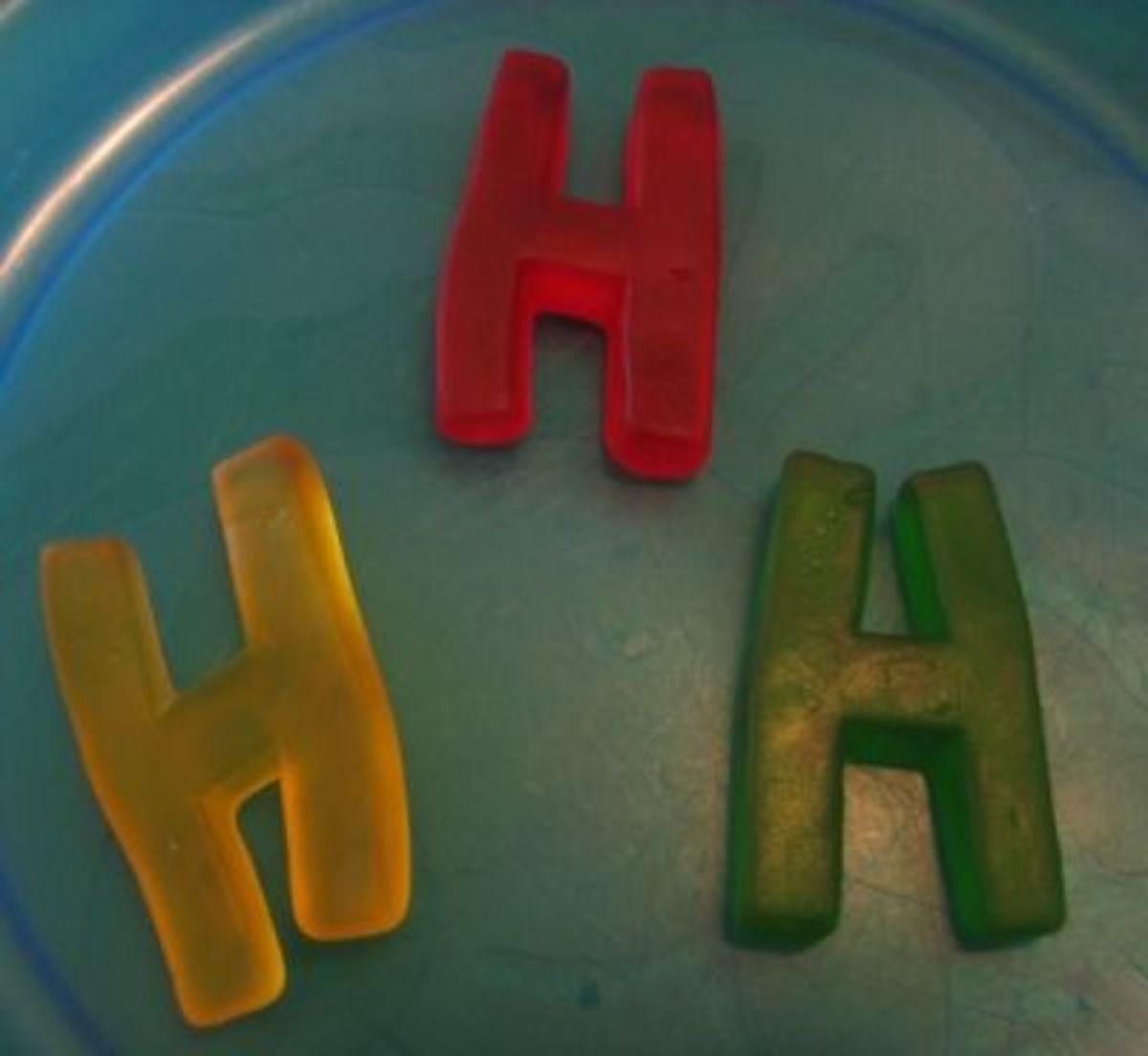 Letter H Gummies