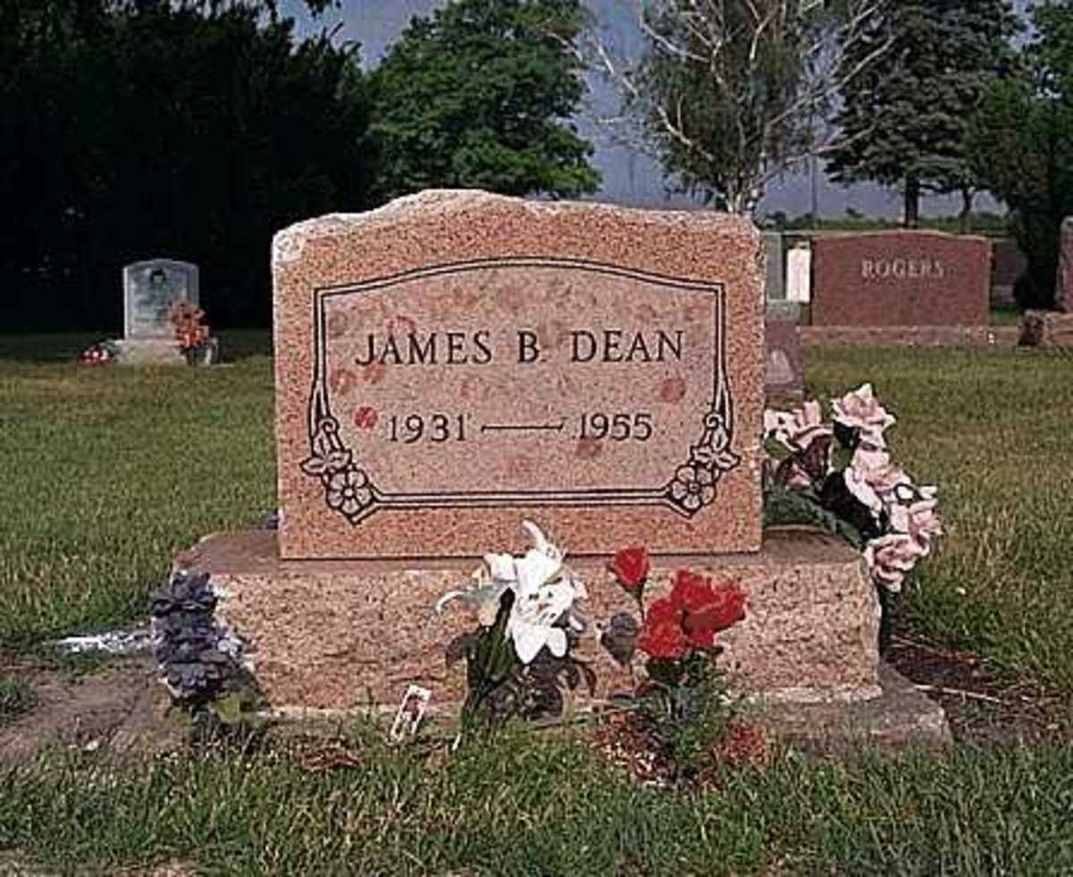 James Dean grave in Fairmoun, Indiana
