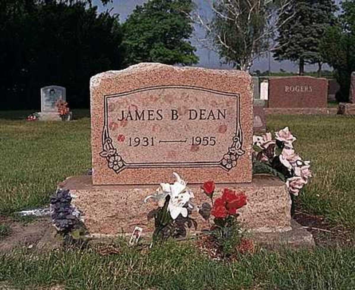James Dean grave in Fairmoun, Indiana