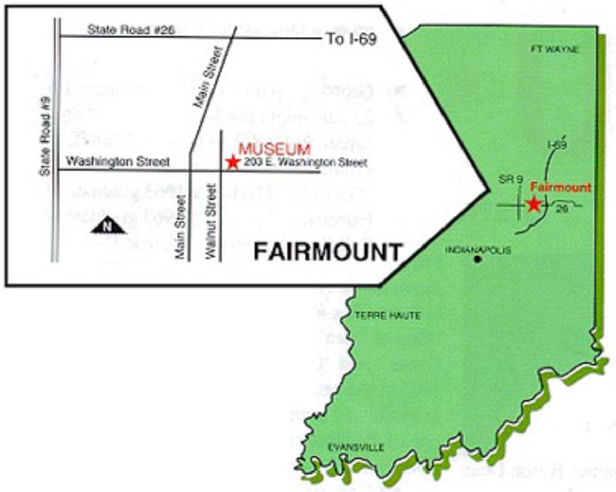 Location of Fairmount Historical Museum