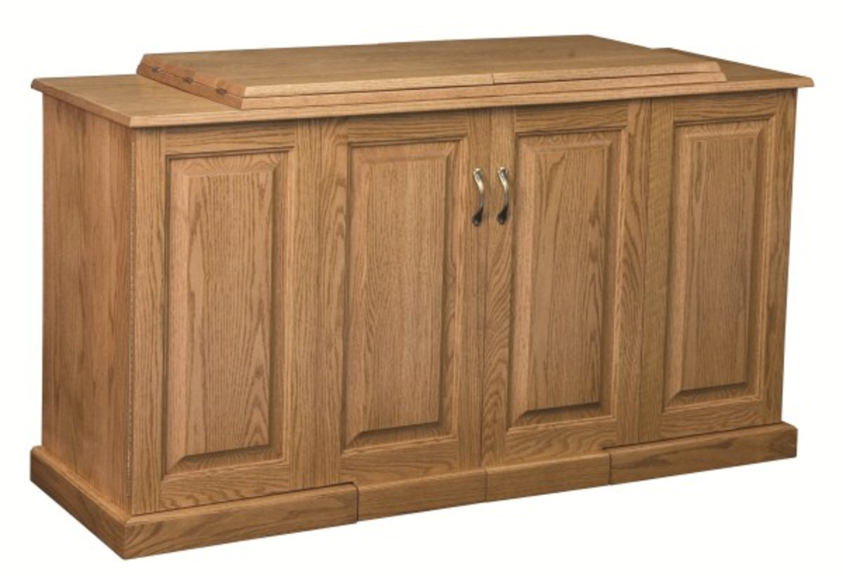 Amish cabinets when closed look like a fine piece of furniture.