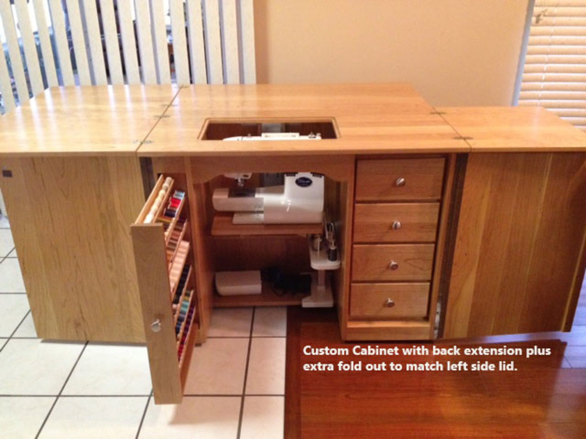 wood sewing machine cabinet plans