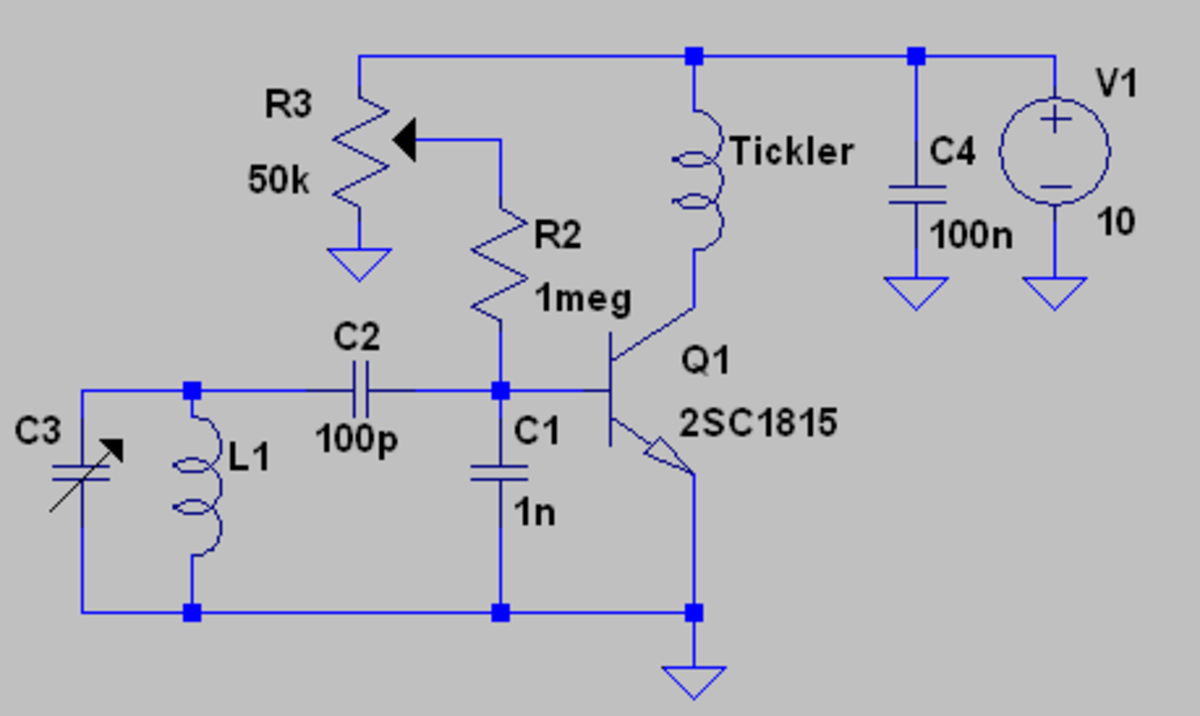 A BJT Armstrong topology Q Multiplier.  Some advantages of this circuit are low noise, simplicity and low phase shift.  The disadvantages are the abrupt transition from the non-oscillating to oscillating state and possible overload conditions.