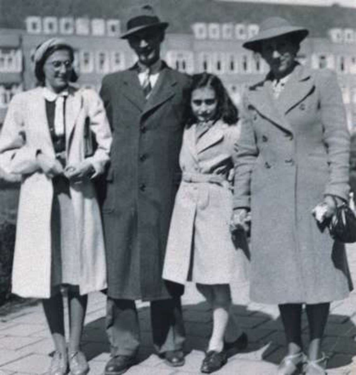 The Frank family, Margot, Otto, Anne, and Edith, shortly before going into hiding.