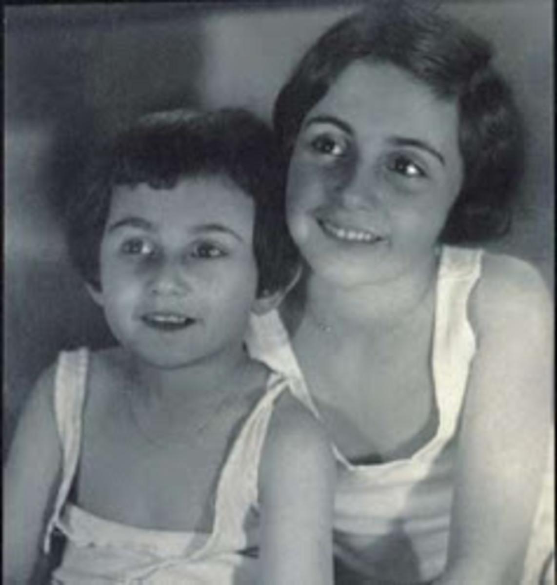 Anne and Margot as children.