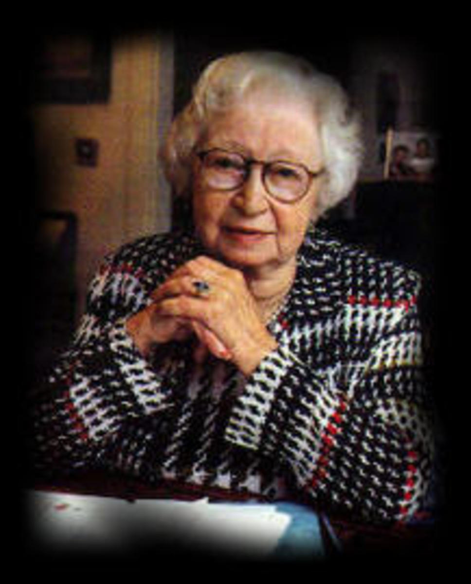 Miep Gies who found Anne's diary after their arrest, saved it, and gave it it Otto Frank after the war.