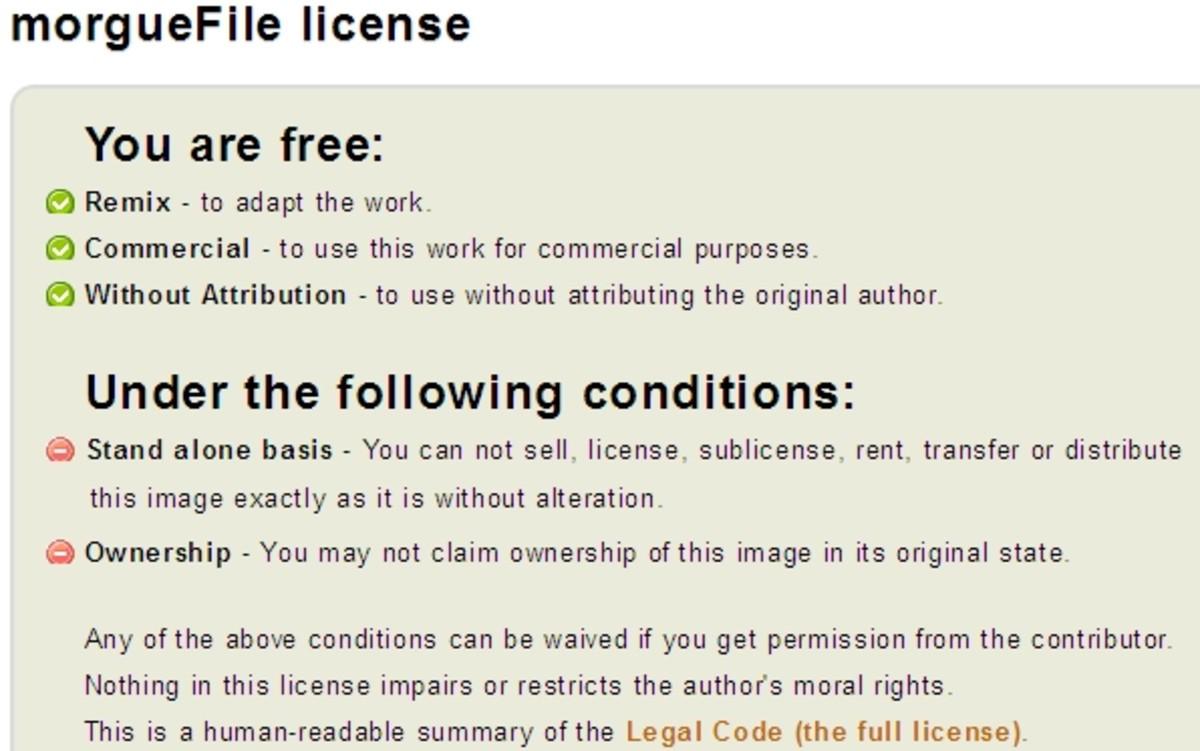 Morguefile Free Image Use License