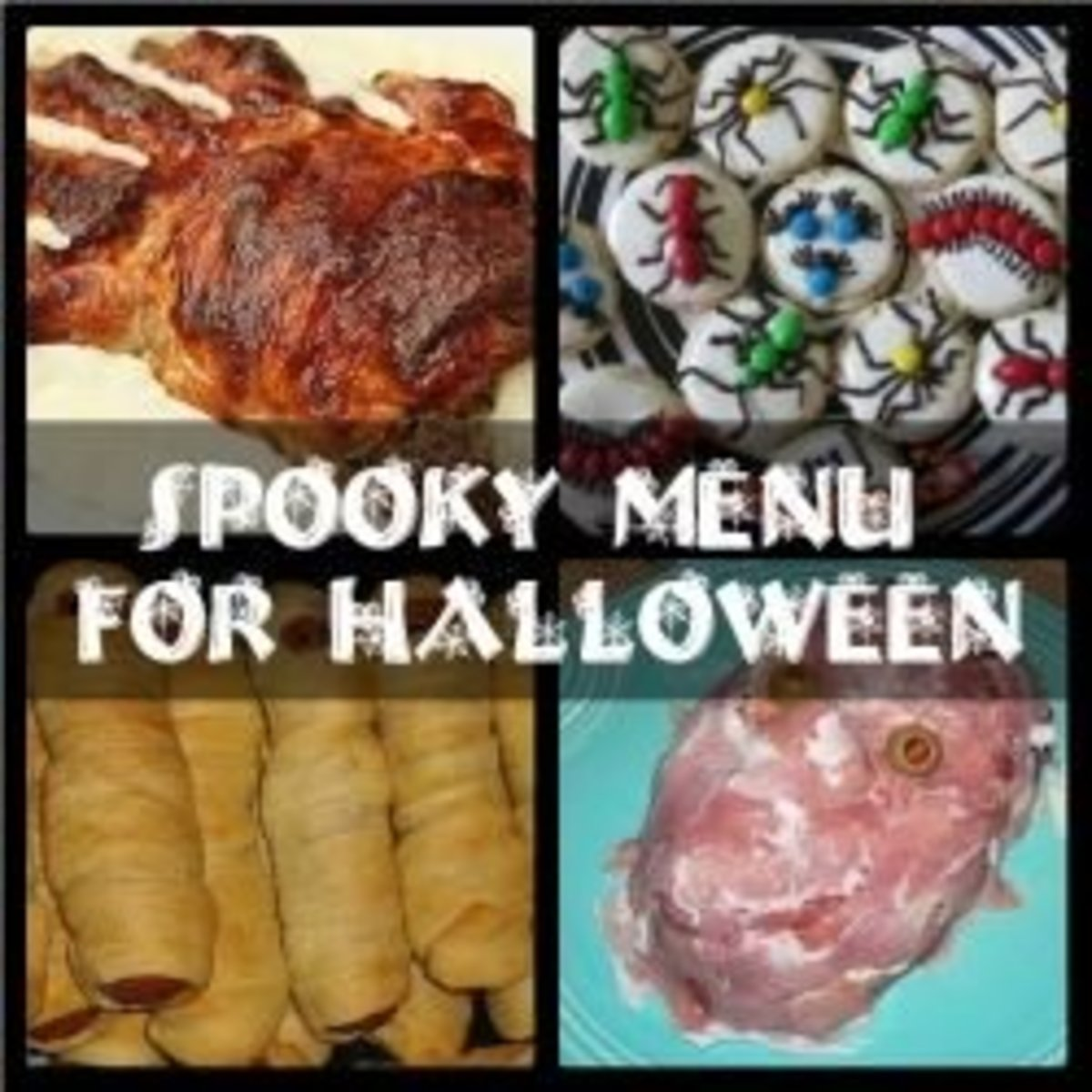 Spooky 4 Course Menu for Halloween