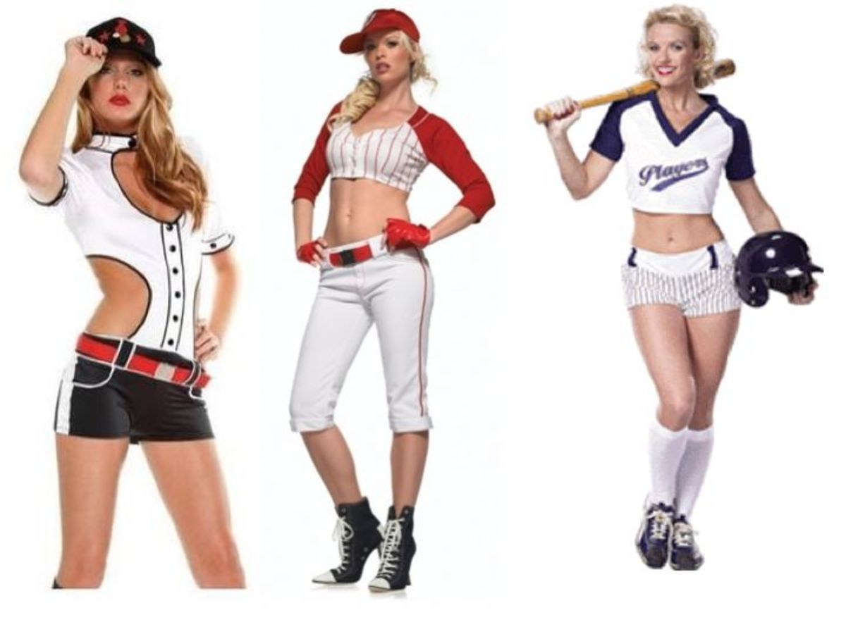 Women Baseball Halloween Costume