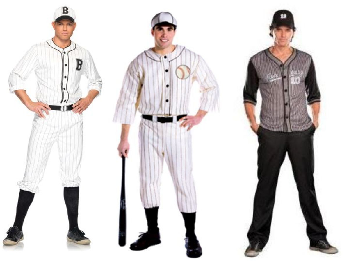 Adult Men Baseball Halloween Costumes