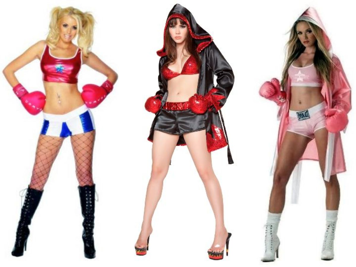 Women Boxingl Halloween Costume