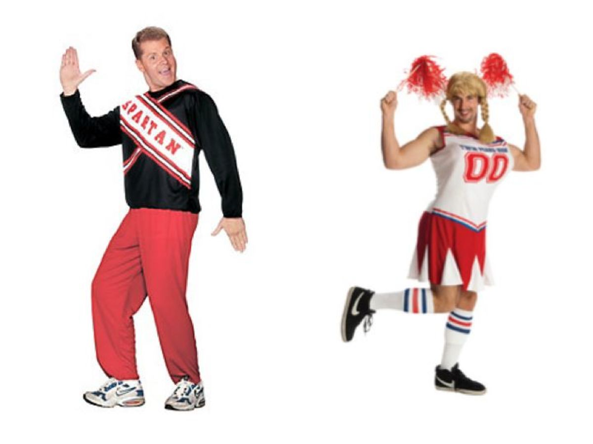 Adult Men Cheerleaders Halloween Costume
