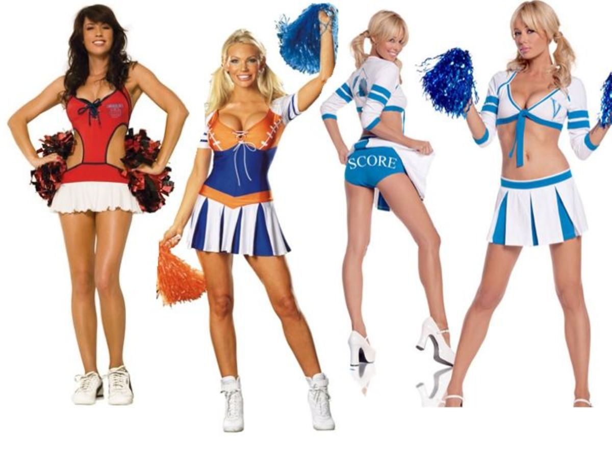 Women Cheerleader Halloween Costumes  sc 1 st  HubPages & Sports Halloween Costumes Men vs Women | HubPages