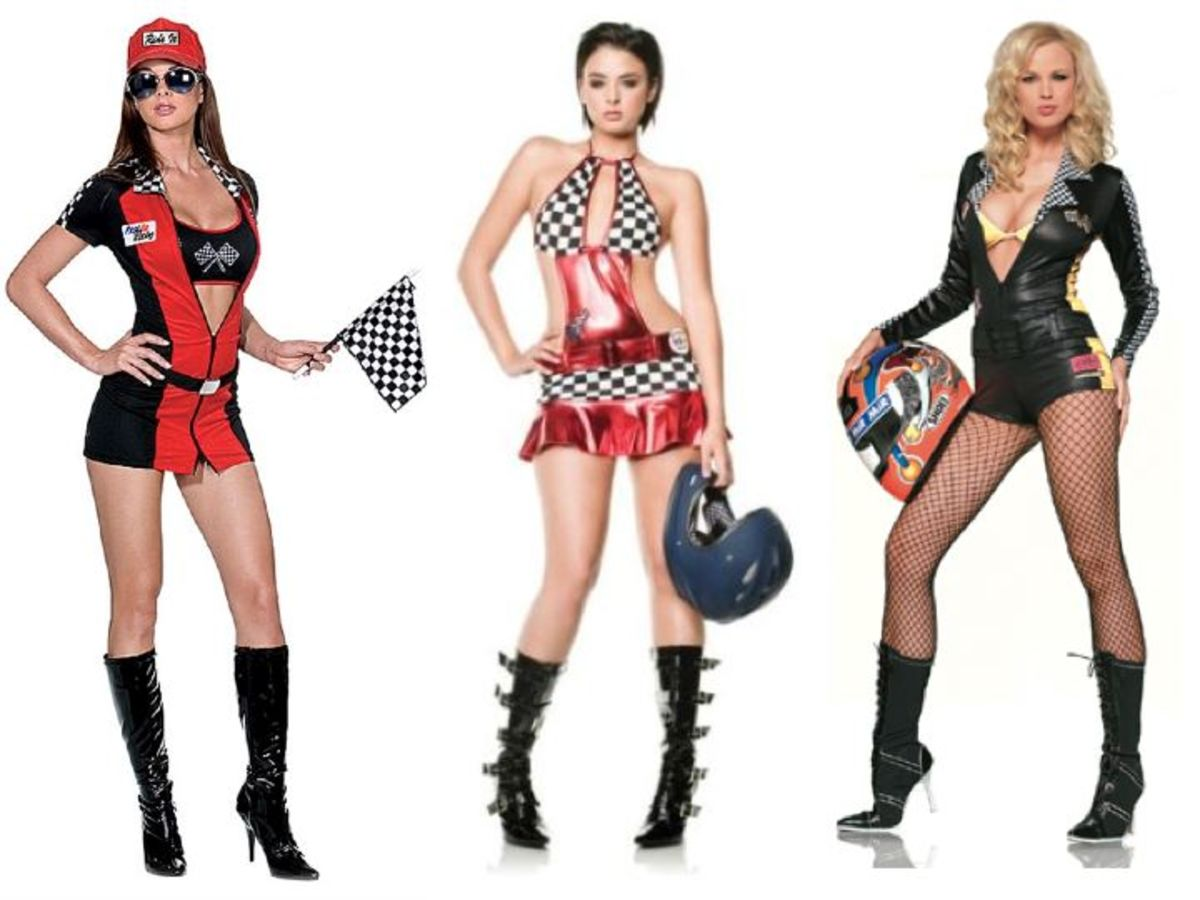 Women Racer Halloween Costumes