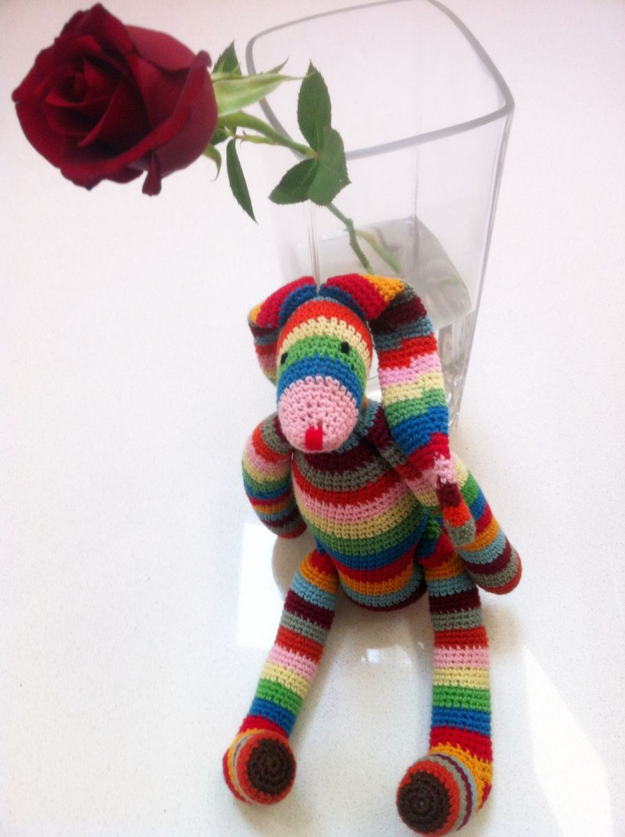 Stuffed animal and rose - the perfect Valentine's Day present! Foto: My own