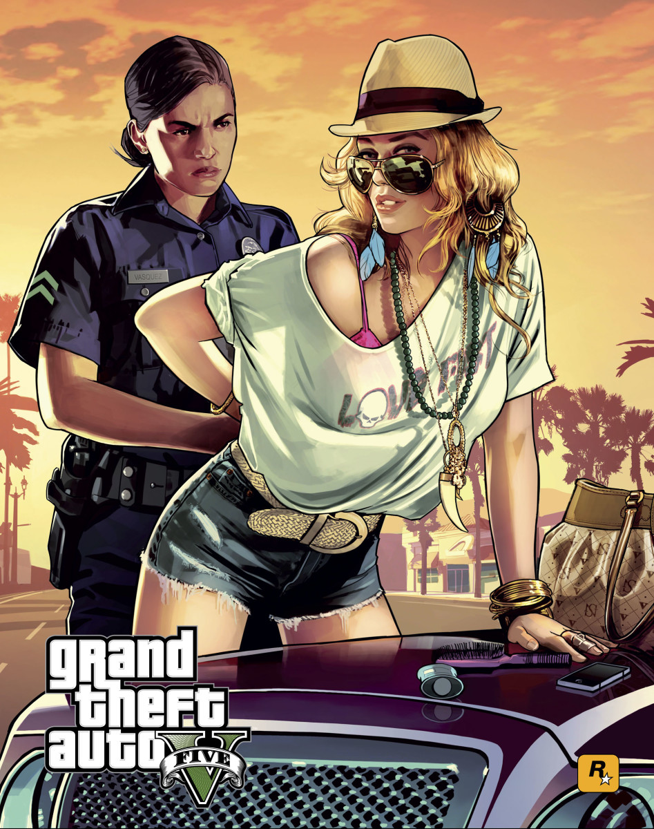 GTA V Escape Police Wanted Levels (Grand Theft Auto Online)
