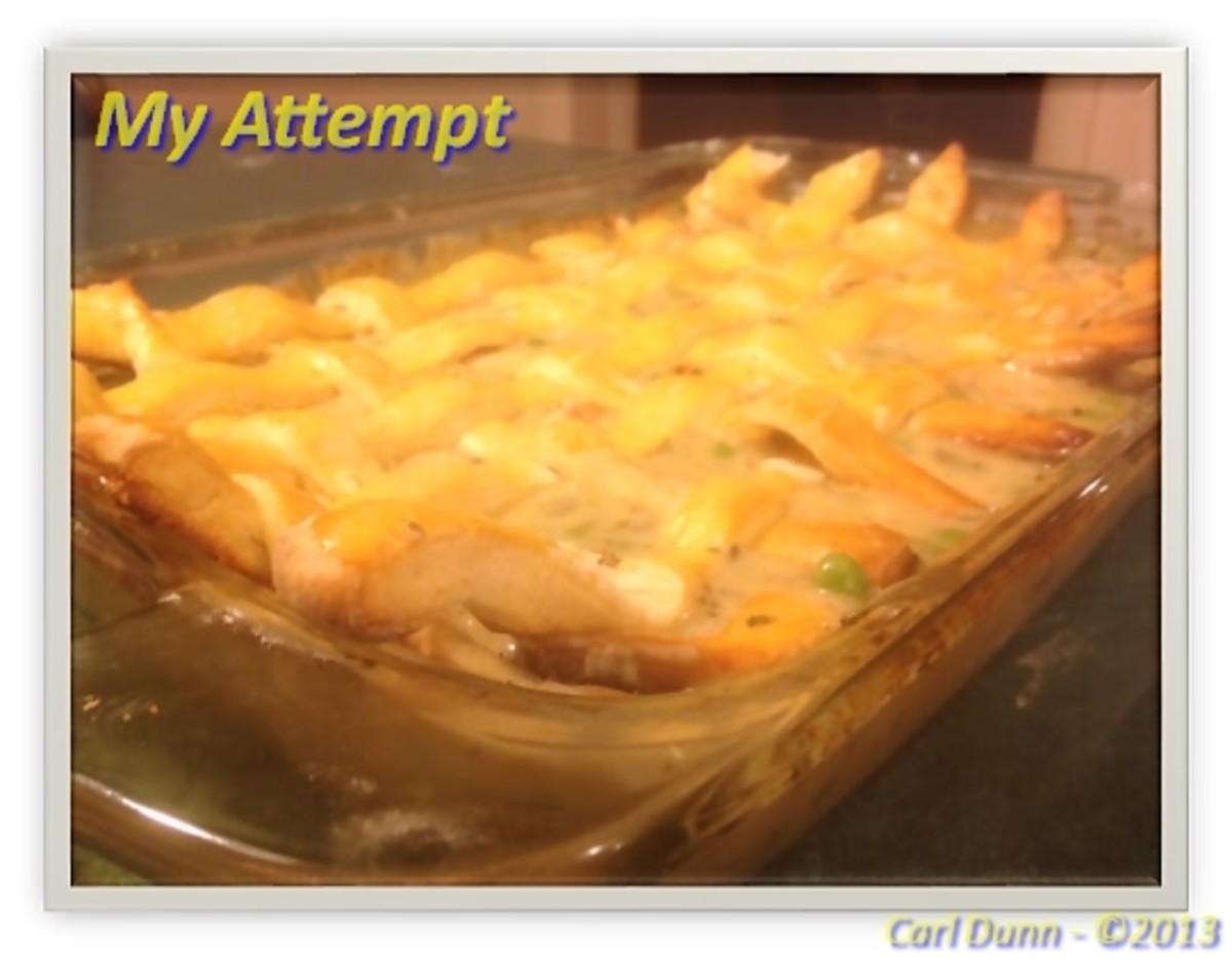 Chef ManCave's Attempt at Paula Deen Chicken Pot Pie
