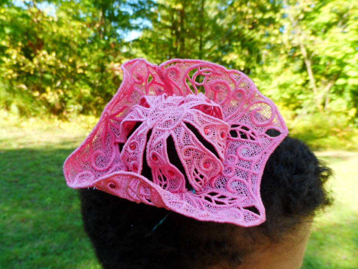 Sometimes, you want super stiff lace, mini lace tricorne designs from Urban Threads