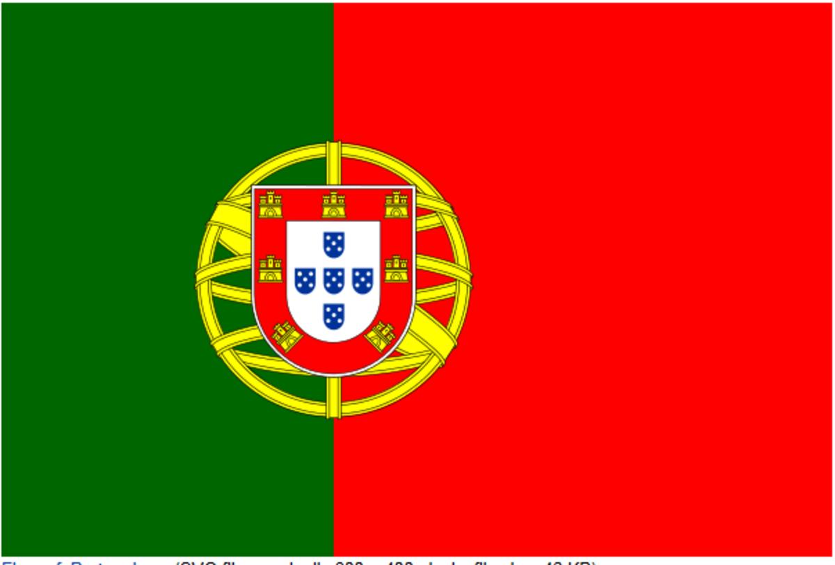 The Portuguese flag.