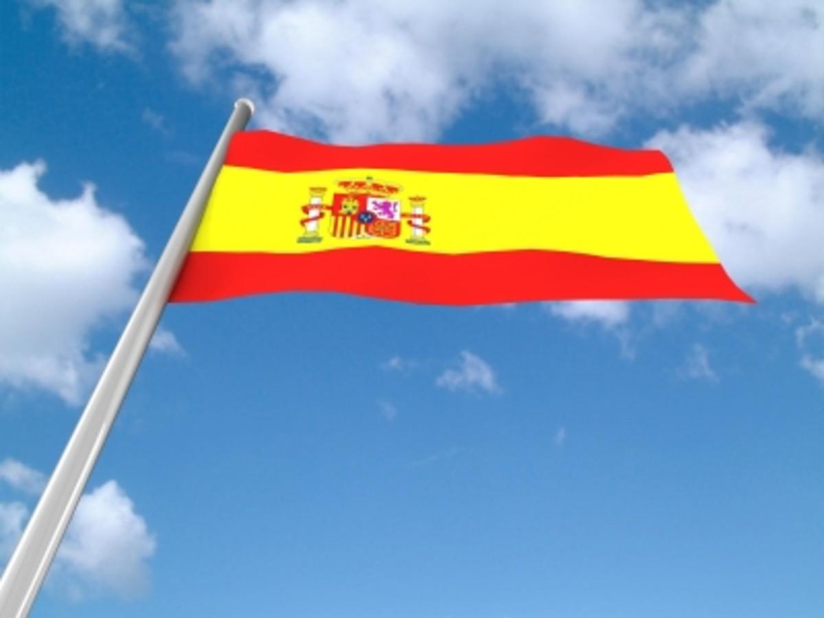 The Spanish flag.