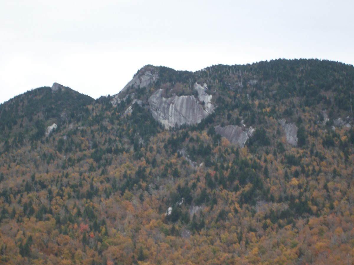 View of Grandfather Mountain.