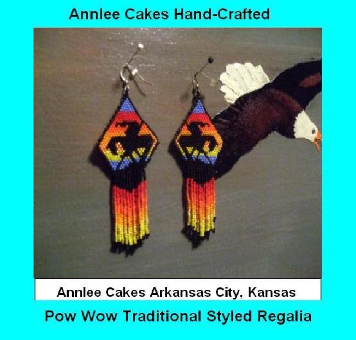 A special End Of Trails pair of earrings by Annlee