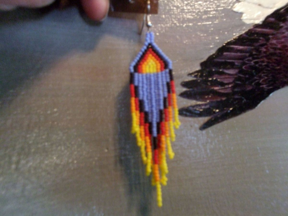 Fire Earrings are a perfect addition to all Regalia and this was designed by Annlee