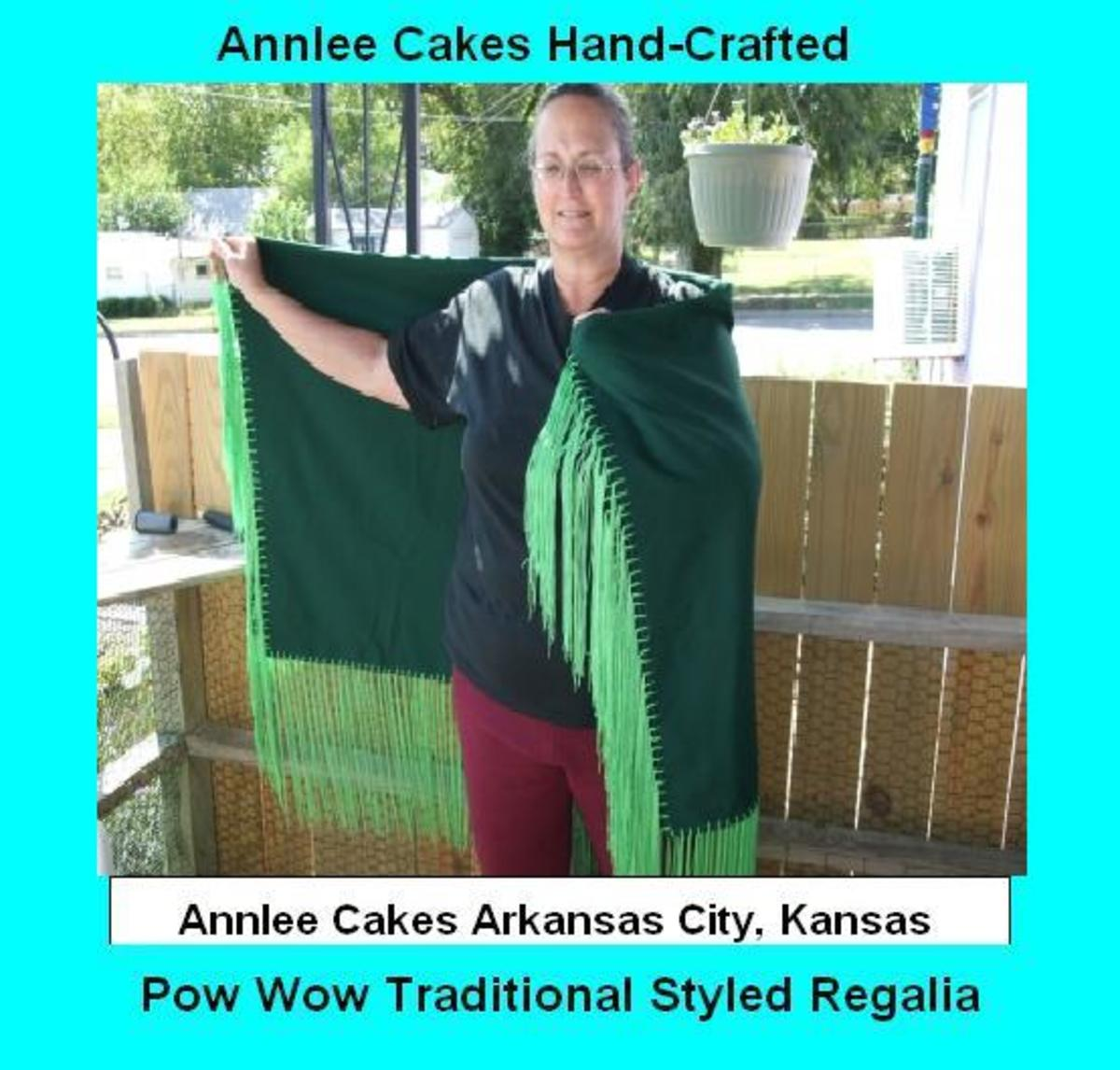 We also custom design and craft fantastic Pow Wow Dance Shawls