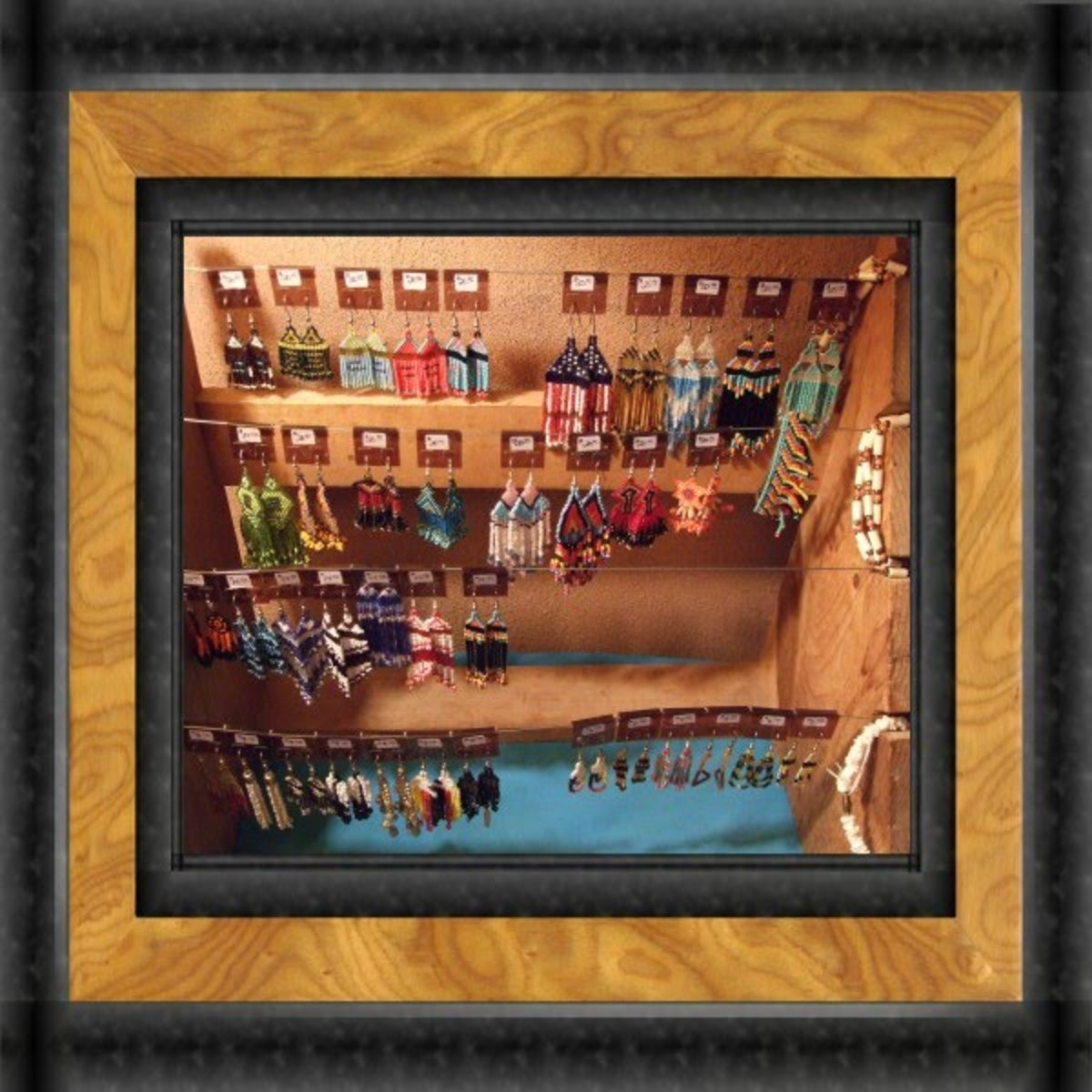 Display of a few Art Beaded Earrings
