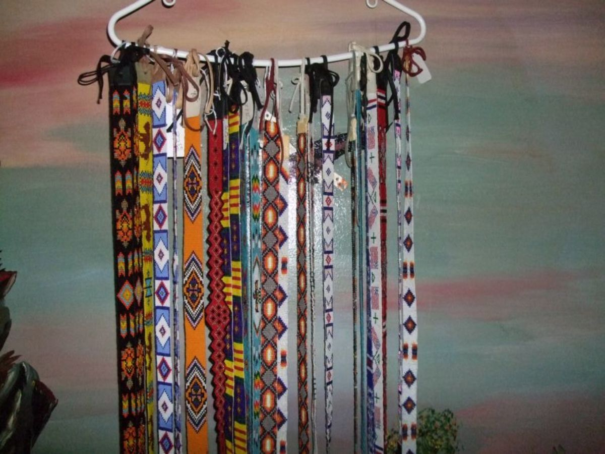 A few of the beautiful Regalia hatbands we have crafted. Visit  annleecakes.com