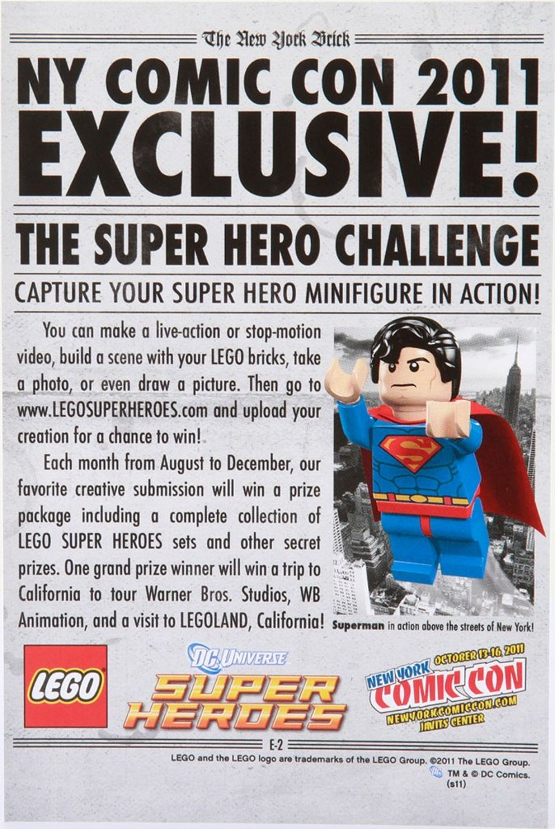LEGO Superman Newspaper Front Comic Con 2011