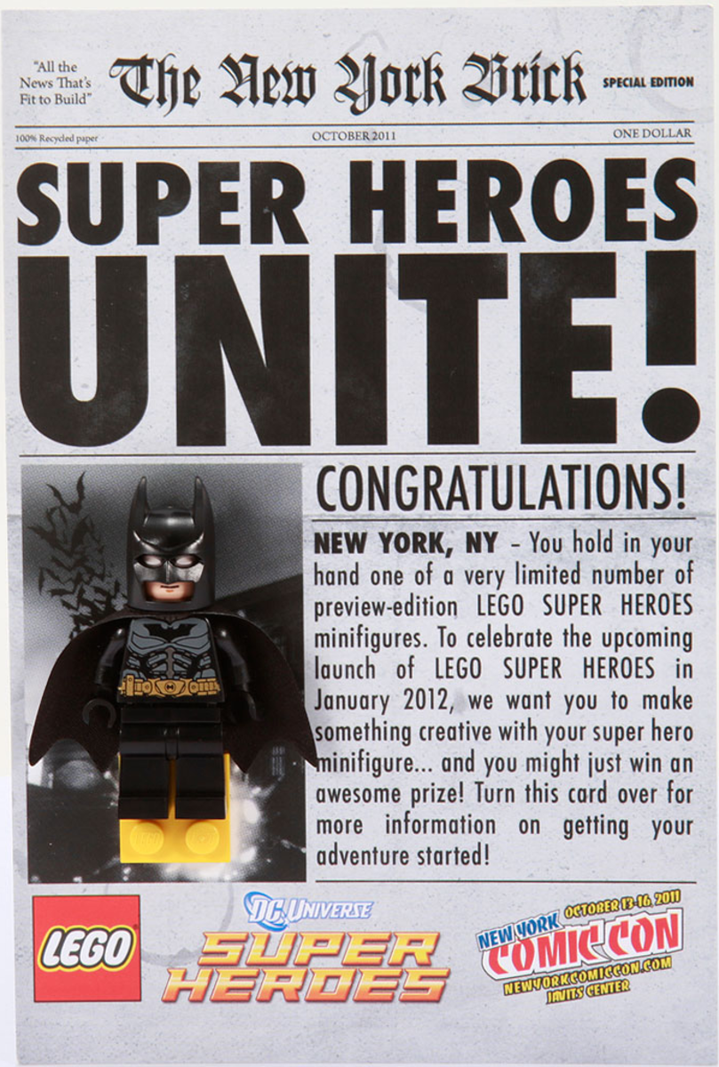 LEGO Batman Newspaper Front New York Comic Con 2011