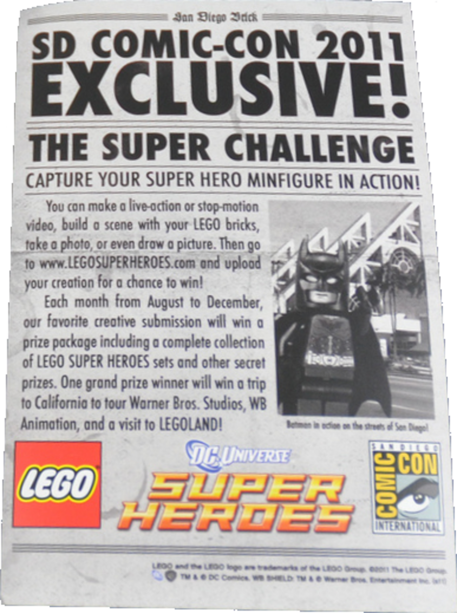 LEGO Batman Newspaper Back San Diego Comic Con 2011