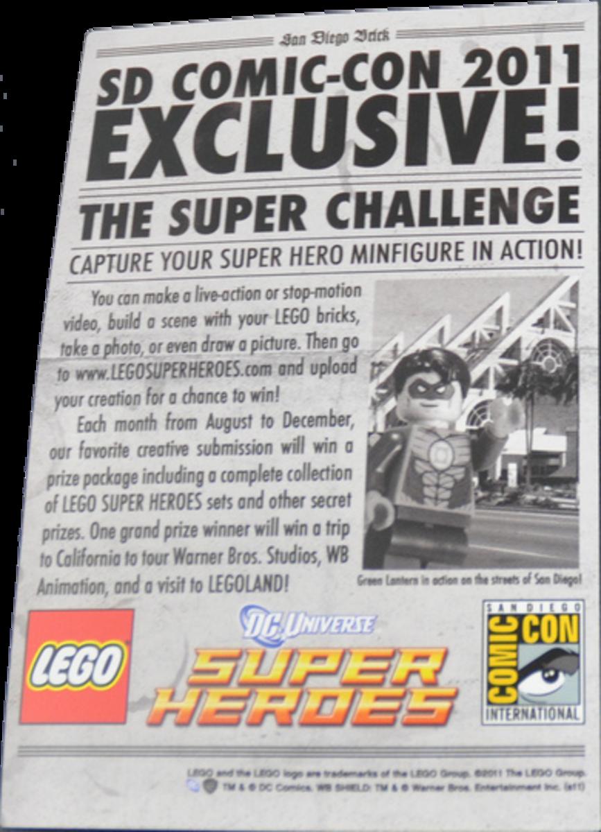 LEGO Green Lantern Newspaper Front San Diego Comic Con 2011