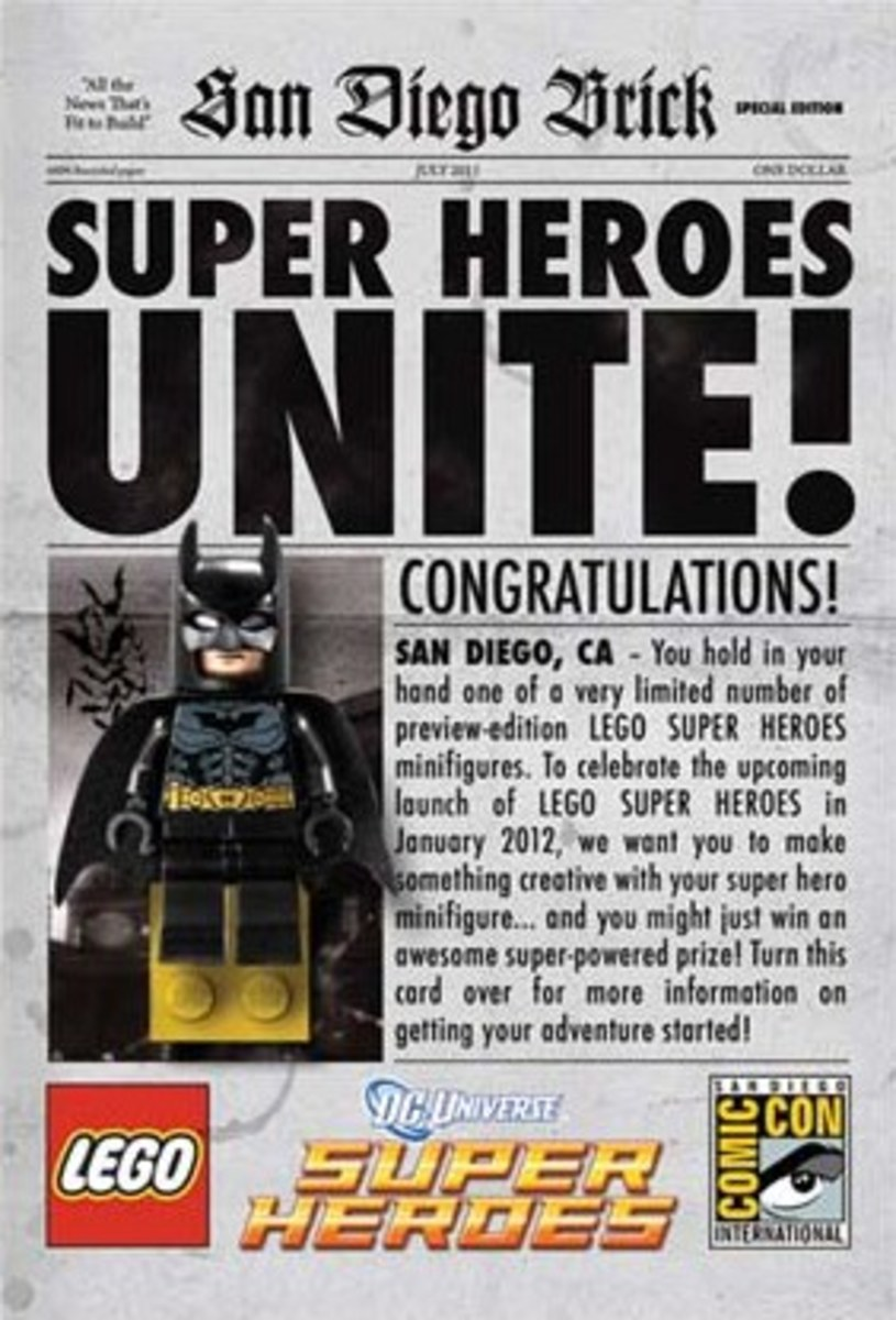 LEGO Batman Newspaper Front San Diego Comic Con 2011
