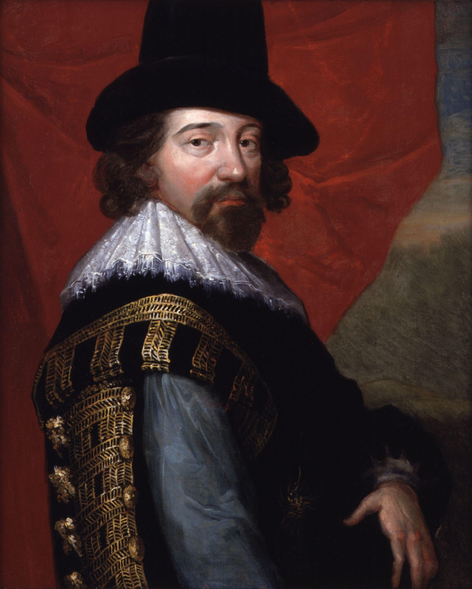 Portrait of Francis Bacon, Viscount St Alban, by John Vanderbank, 1731?, after a portrait by an unknown artist (circa 1618)