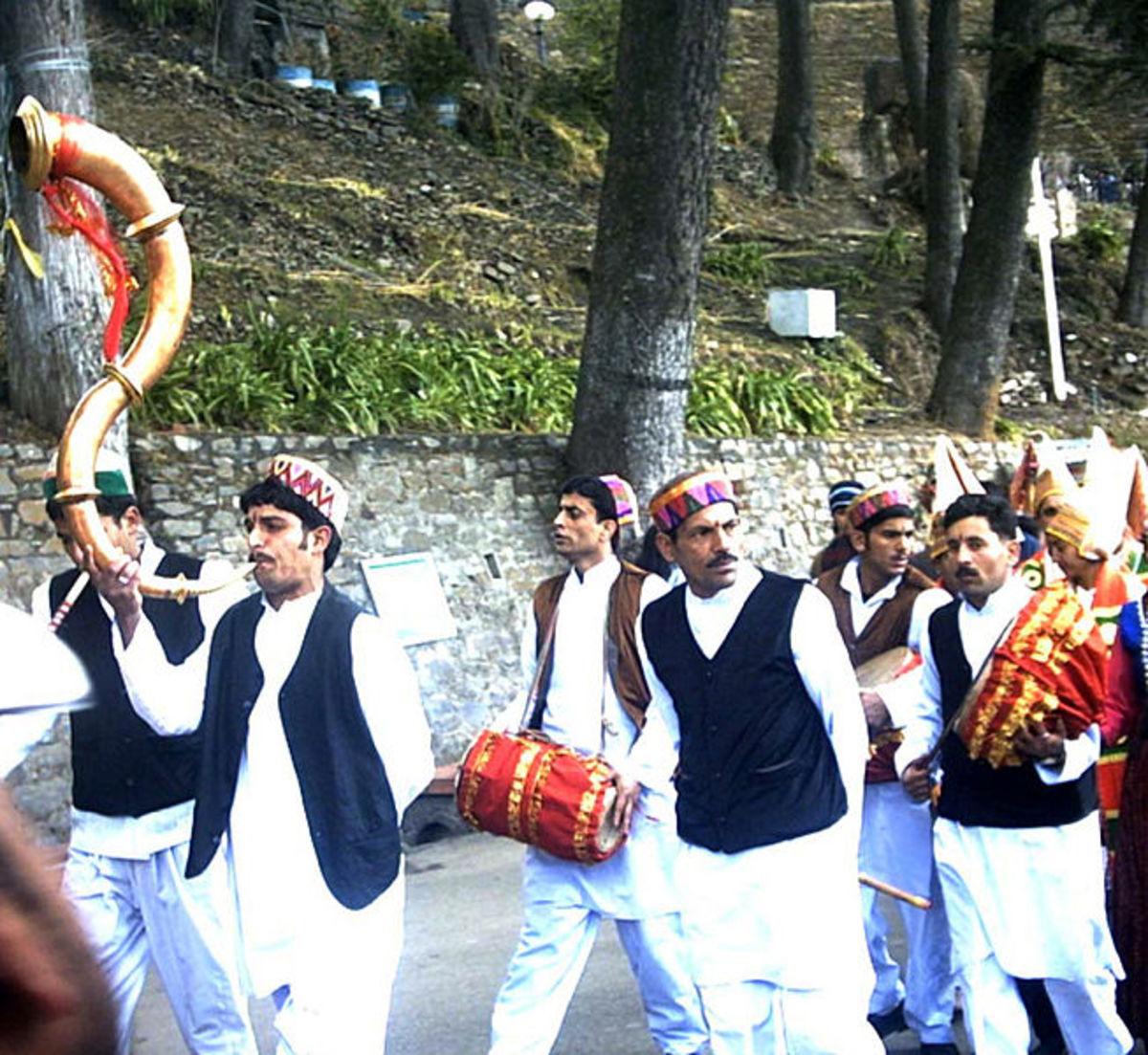 Trumpet in local procession