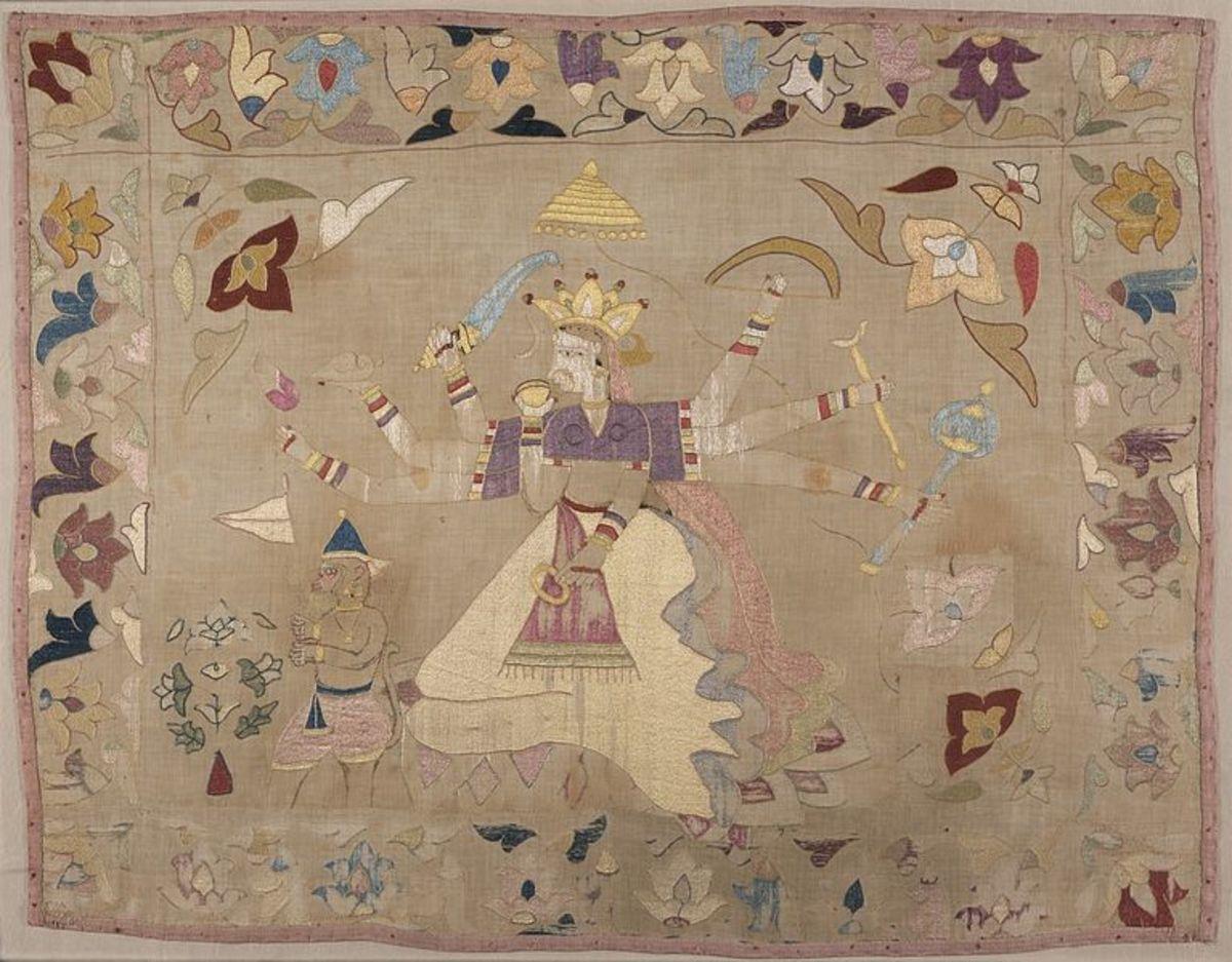 Chamba Rumal with Scenes of Sita and Hanuman