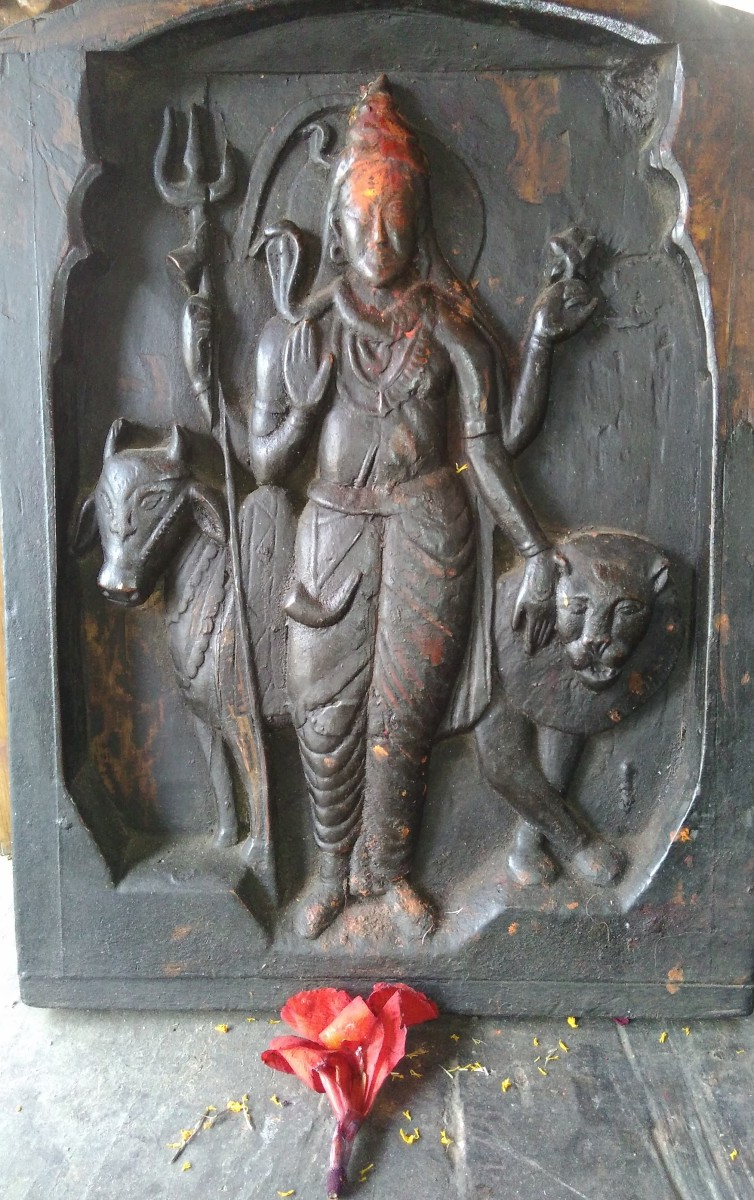 Beautiful wood carving at Shiv Temple Kasogh