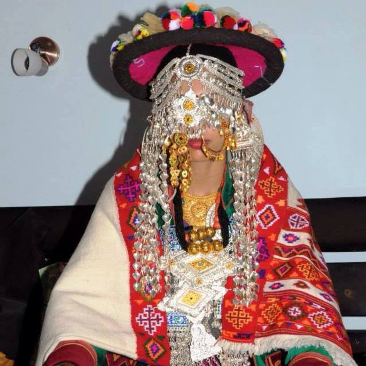 The woman of Kinnaur in Traditional Jewelery