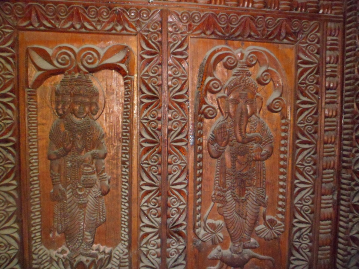Wood carving of Jawani Mahadev Kullu