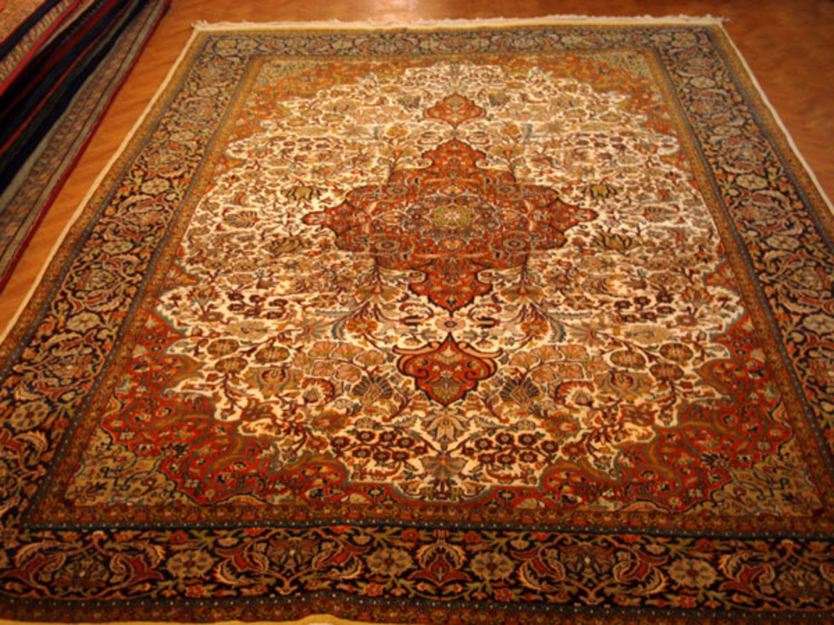 Fine Silk on Silk Carpet