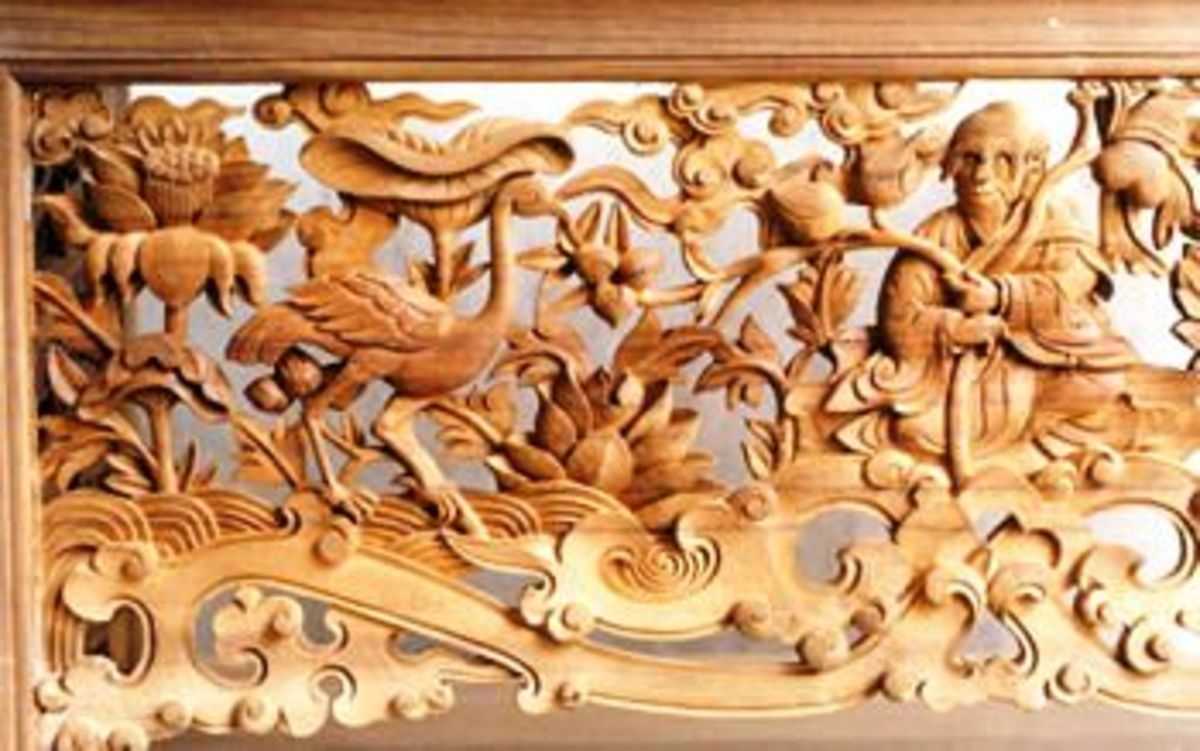 Wood Carving at Dharamsala