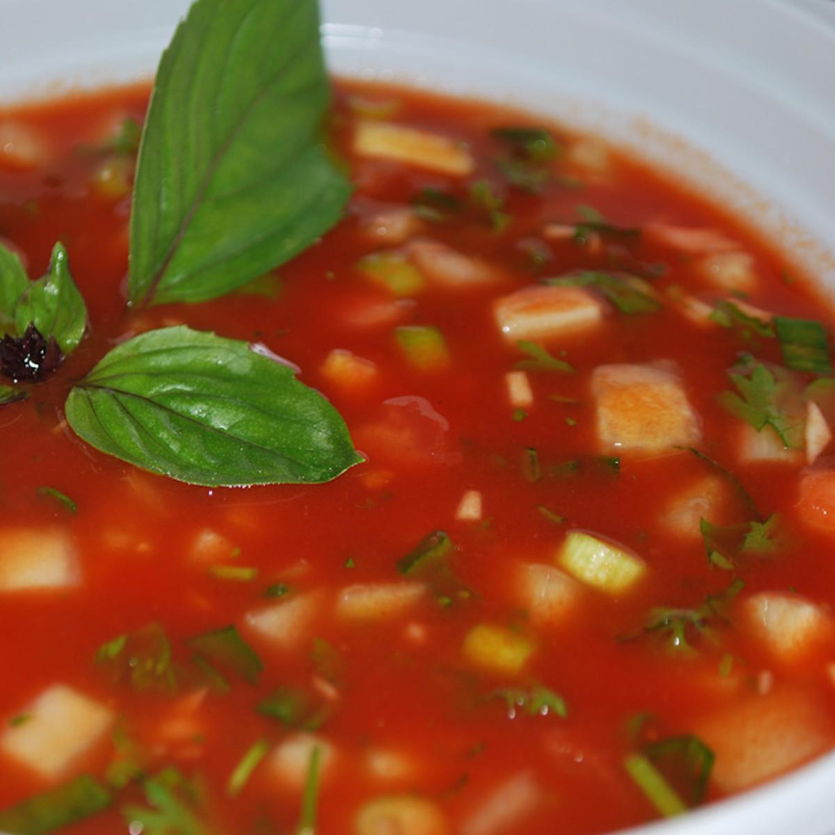 Gaspacho Soup - fresh, colourful, nutritious, tasty.