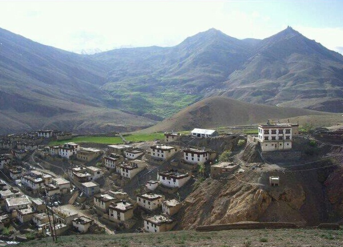 Another View of the Kibber Village