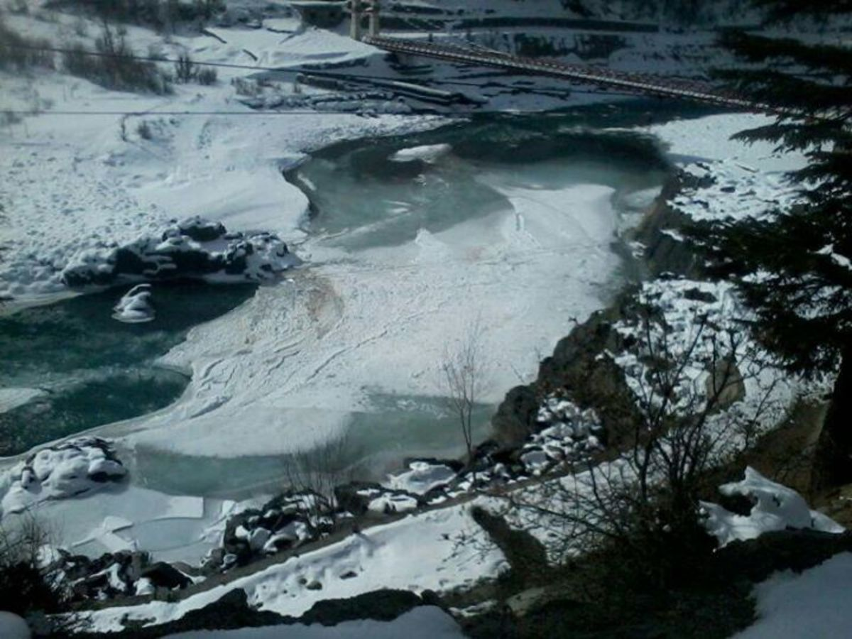 Frozen Chenab River