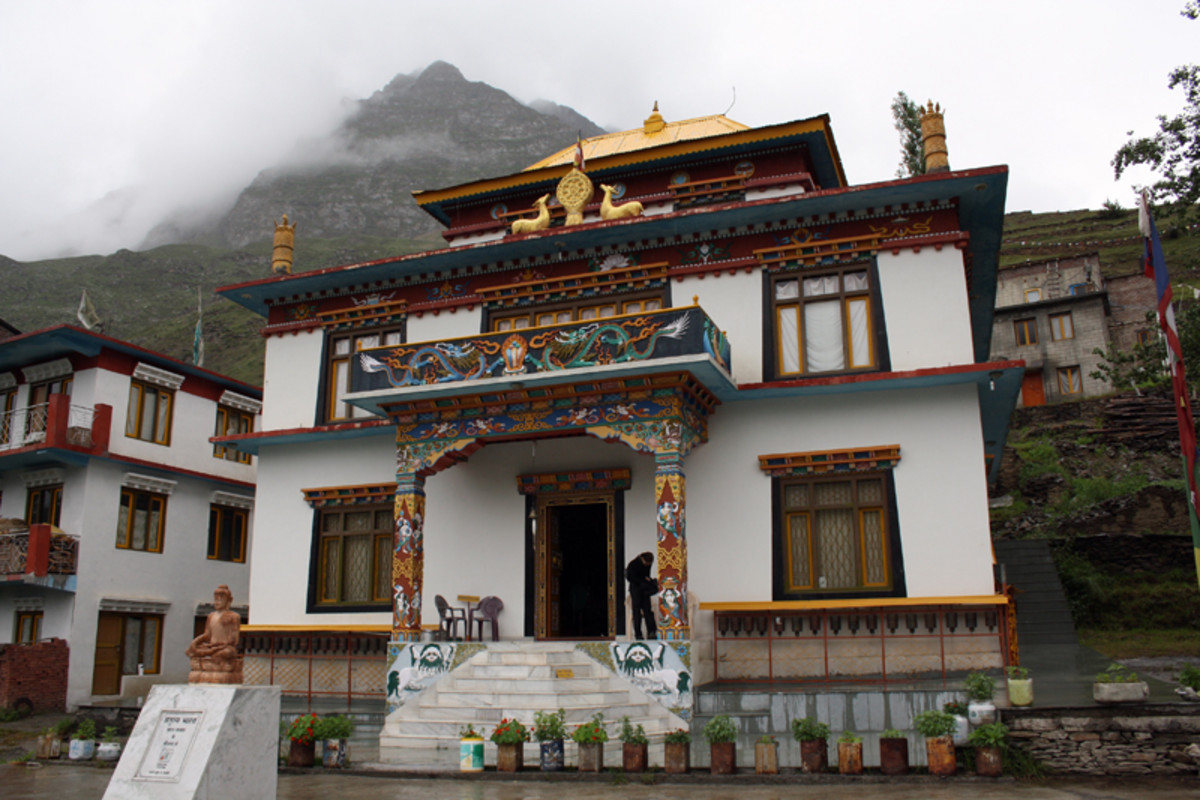 The renovated Kardang Gompa, Keylong