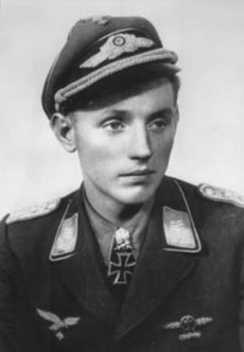 Erich Hartmann was nicknamed for his baby face.