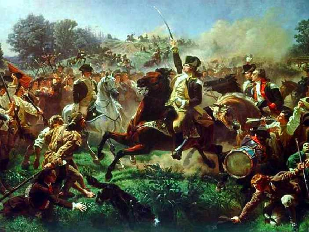 General Washington at the Battle of Monmouth, by Emanuel Leutze (1816-1868)