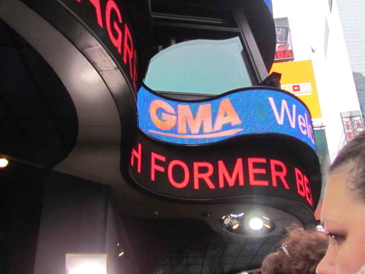New York, is known worldwide for the popular theatre performances as well as numerous television shows are taped there such as GMA, Live with Kelly and Michael and Who Wants To Be A Millionaire.